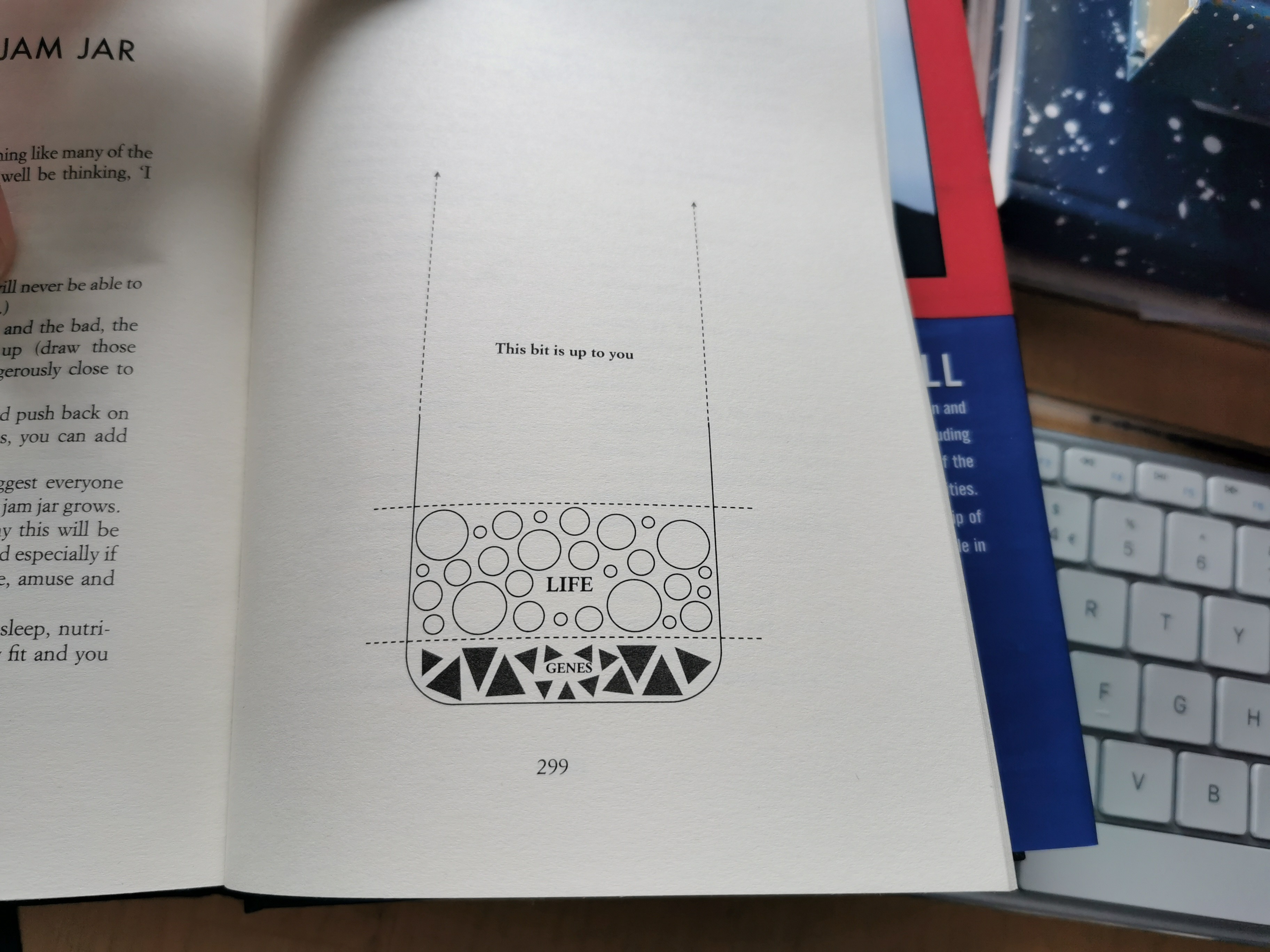 A book page showing a diagram of mental health coping strategies