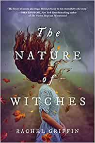 Cover of 'The Nature of Witches' showing a girl flipping her brown hair.