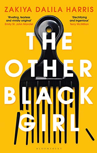 Cover of 'The Other Black Girl', dark yellow with a black broken comb.